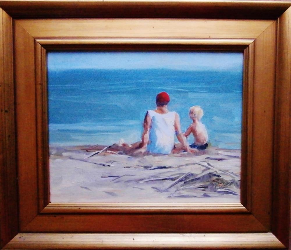"""""""Sitting and Staring"""" original fine art by Connie Snipes"""
