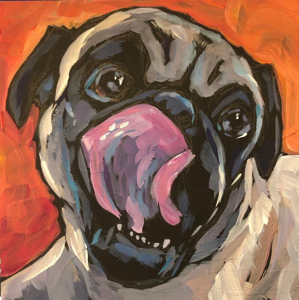 """Pug View #3"" original fine art by Kat Corrigan"