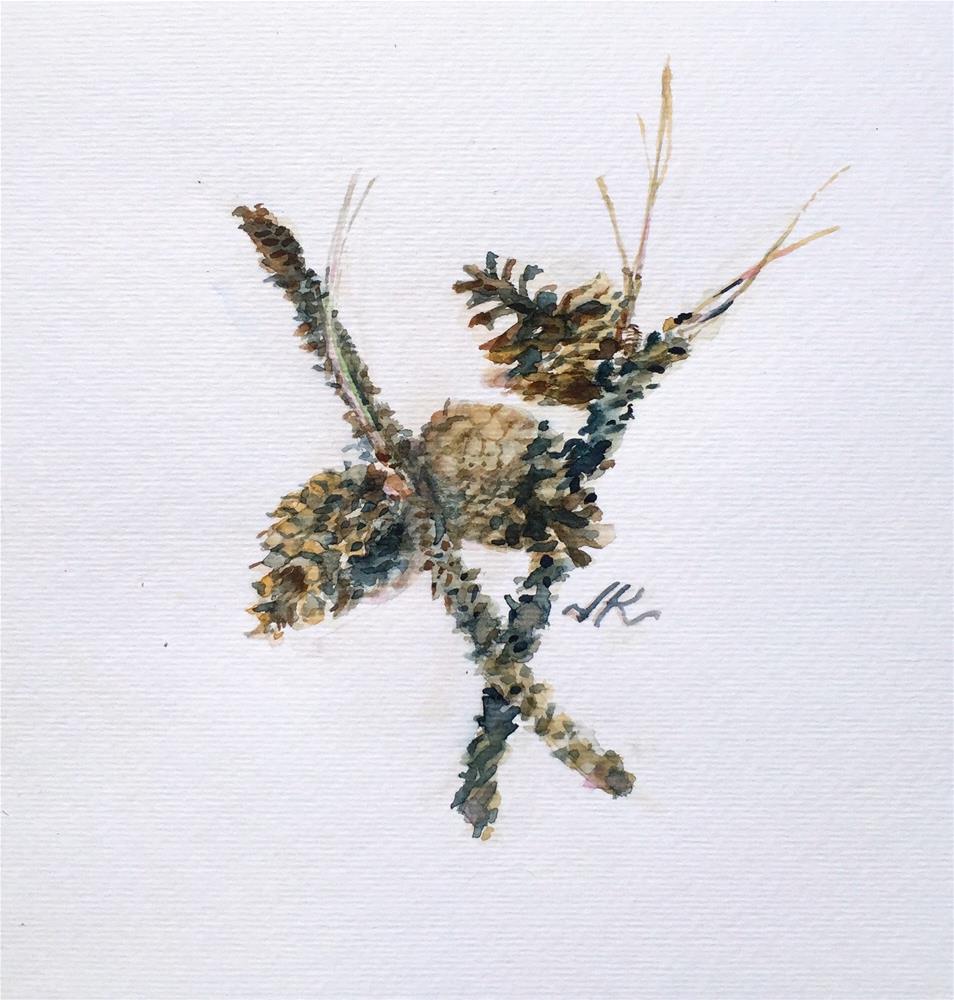 """""""Ponderosa Twigs"""" original fine art by Jean Krueger"""