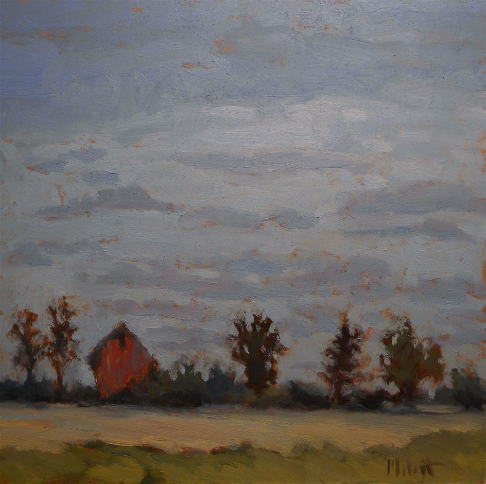 """Red Barn Midwest Landscape"" original fine art by Heidi Malott"