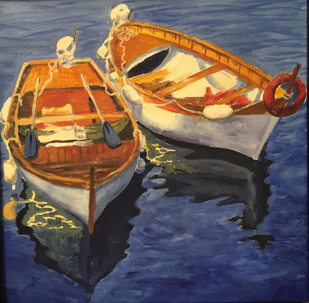 """Boats"" original fine art by Natasha Ramras"