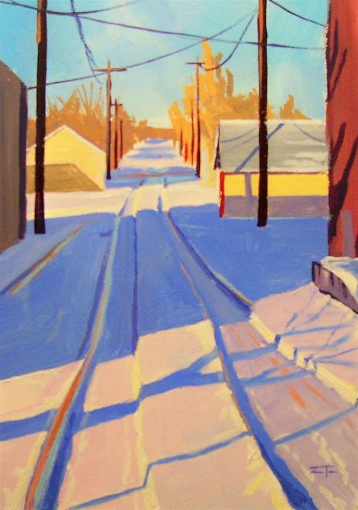 """First Tracks"" original fine art by Zack Thurmond"