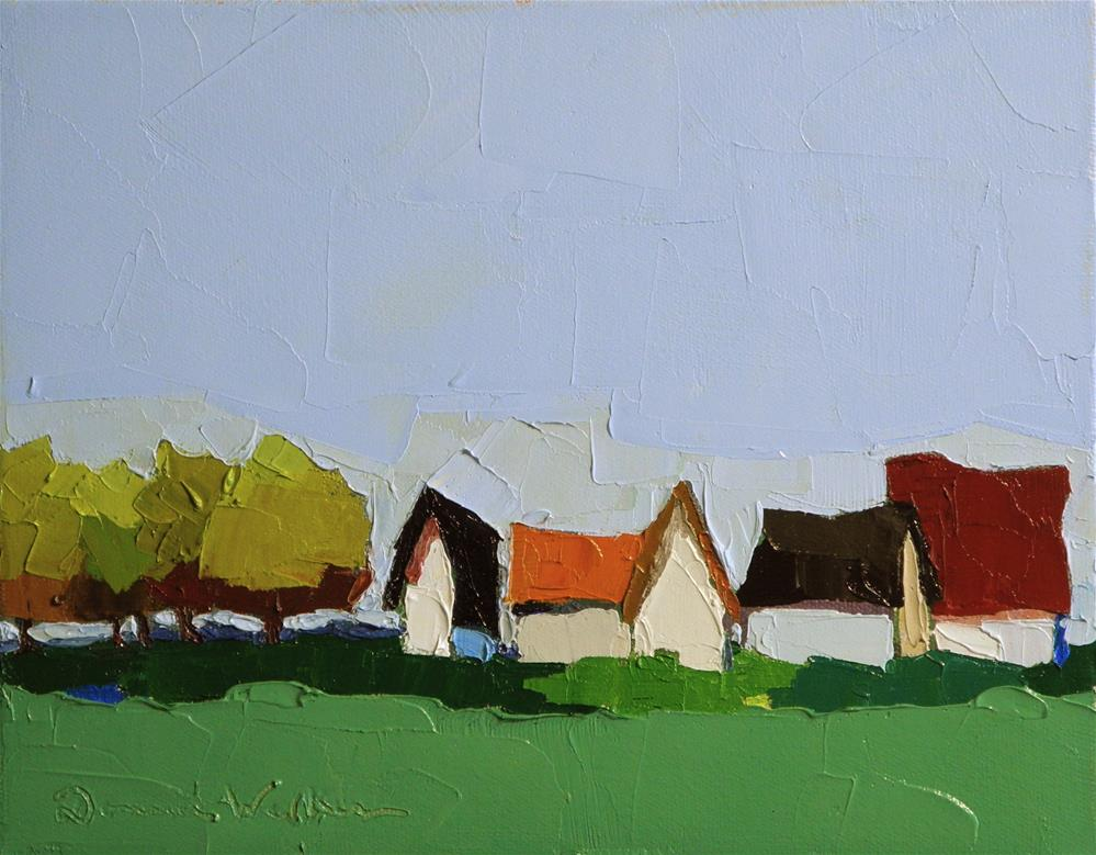 """Roofline II"" original fine art by Donna Walker"