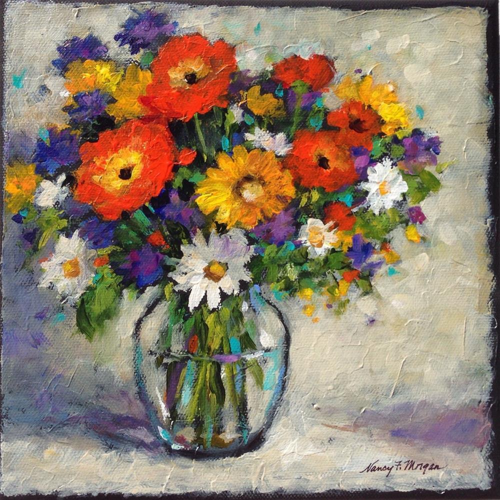 """Colorful Mix"" original fine art by Nancy F. Morgan"