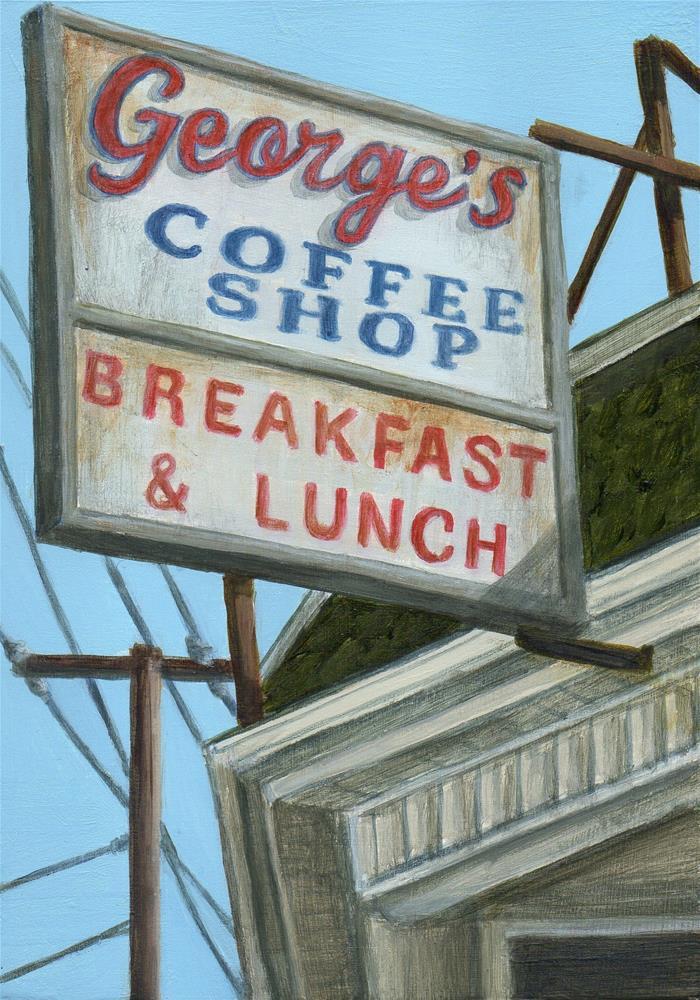 """George's"" original fine art by Debbie Shirley"