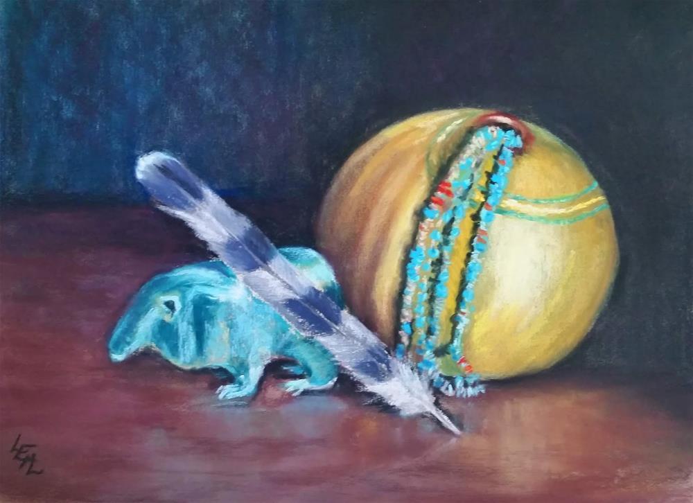 """Four Treasures"" original fine art by Anna Lisa Leal"