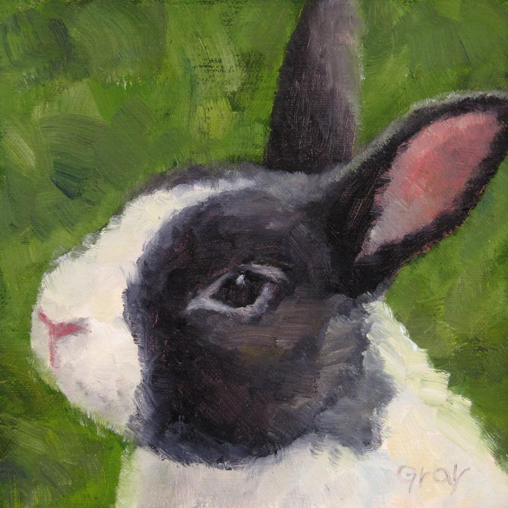 """Dutch the Bunny"" original fine art by Naomi Gray"