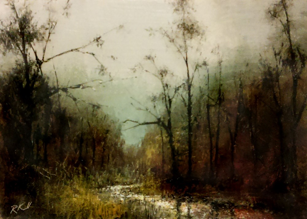 """""""The Stream in the Woods"""" original fine art by Bob Kimball"""