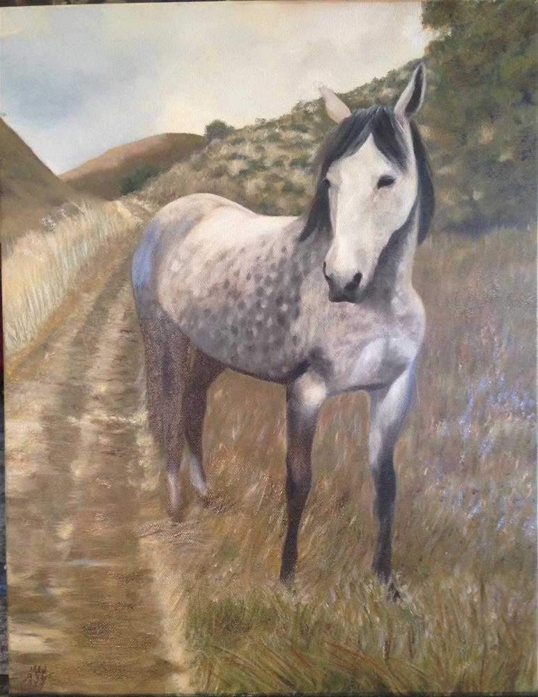 """A romp through the hills"" original fine art by Karen Stitt"