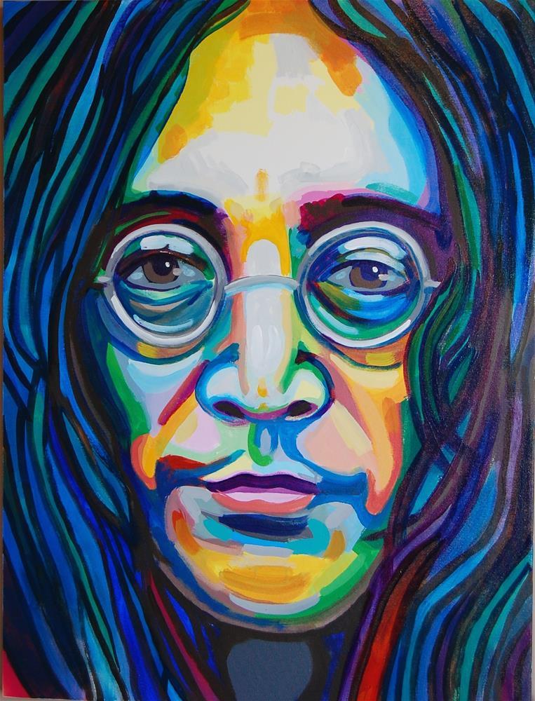 """""""John Lennon (color contact 11)"""" original fine art by michael vigneux"""