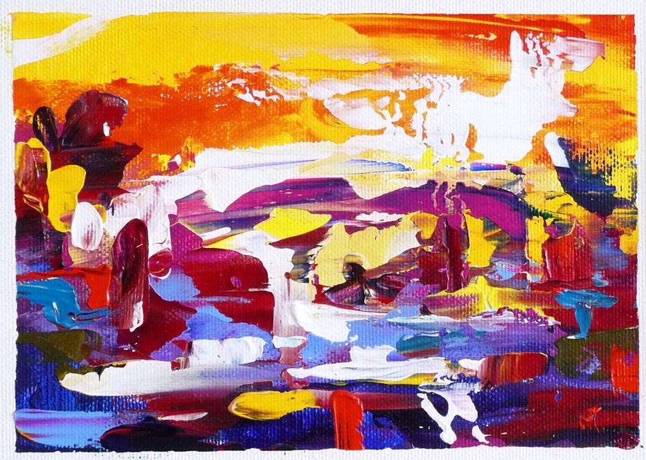 """""""Autumn sunset"""" original fine art by Mikko Tyllinen"""