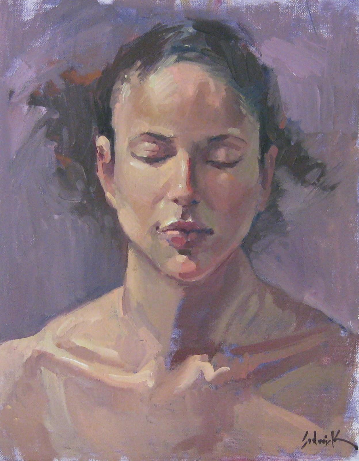 """Reverie - Portrait painting by Sarah Sedwick"" original fine art by Sarah Sedwick"