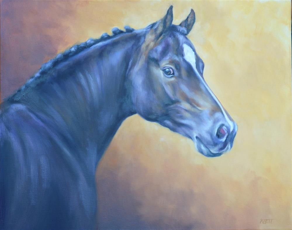 """The Bay Horse"" original fine art by Tracy Klett"