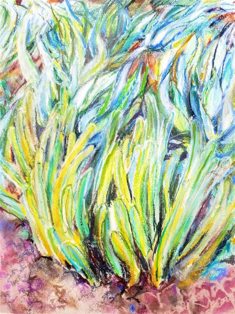 """""""Succulent Garden"""" original fine art by Jean Krueger"""