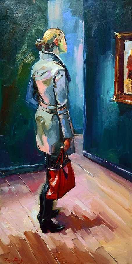"""""""Besuch beim Rembrandt 4"""" original fine art by Jurij Frey"""