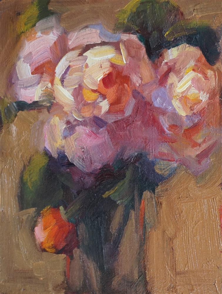 """Autumn Roses"" original fine art by Carol Myer"