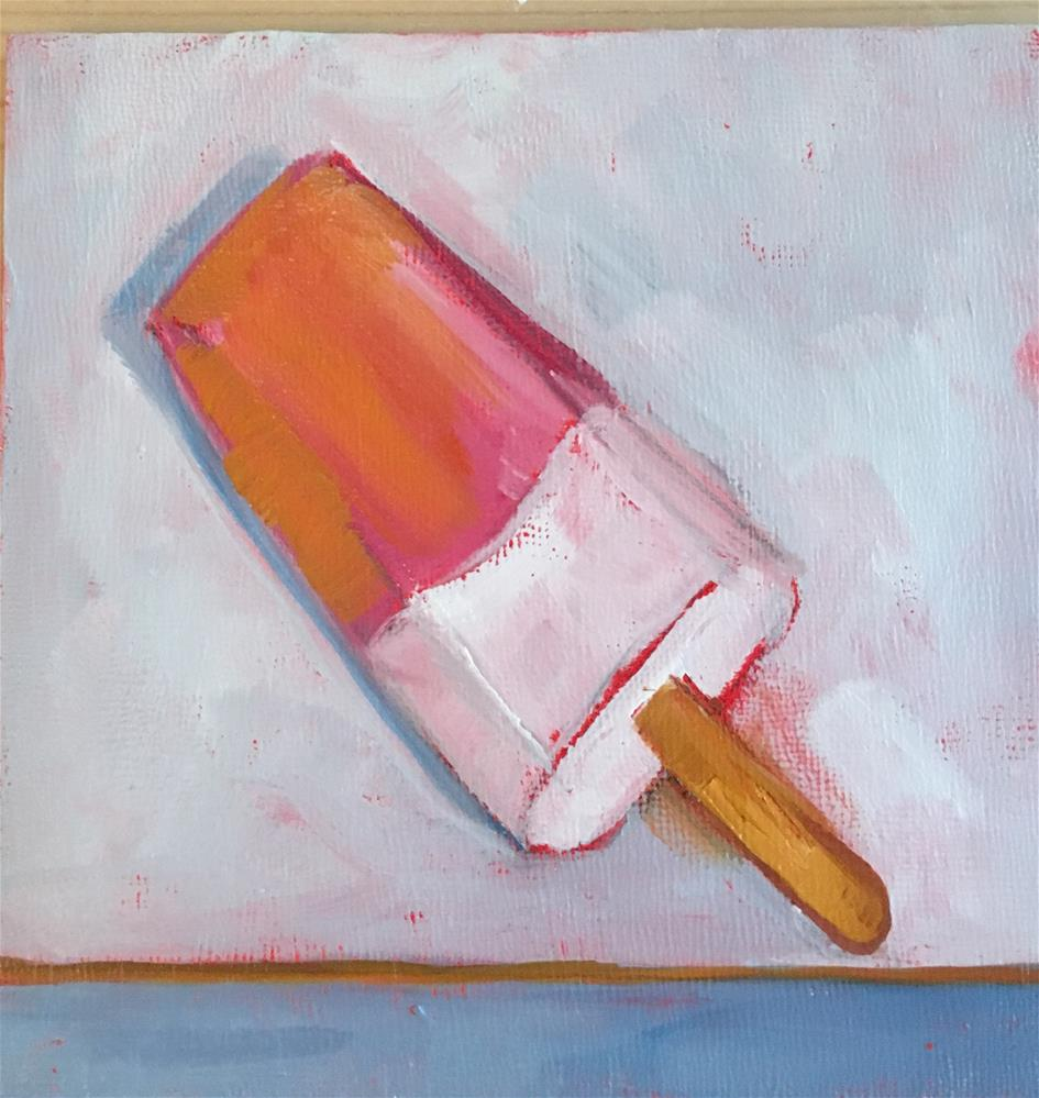 """Raspberry and Vanilla Pop"" original fine art by maura fine"