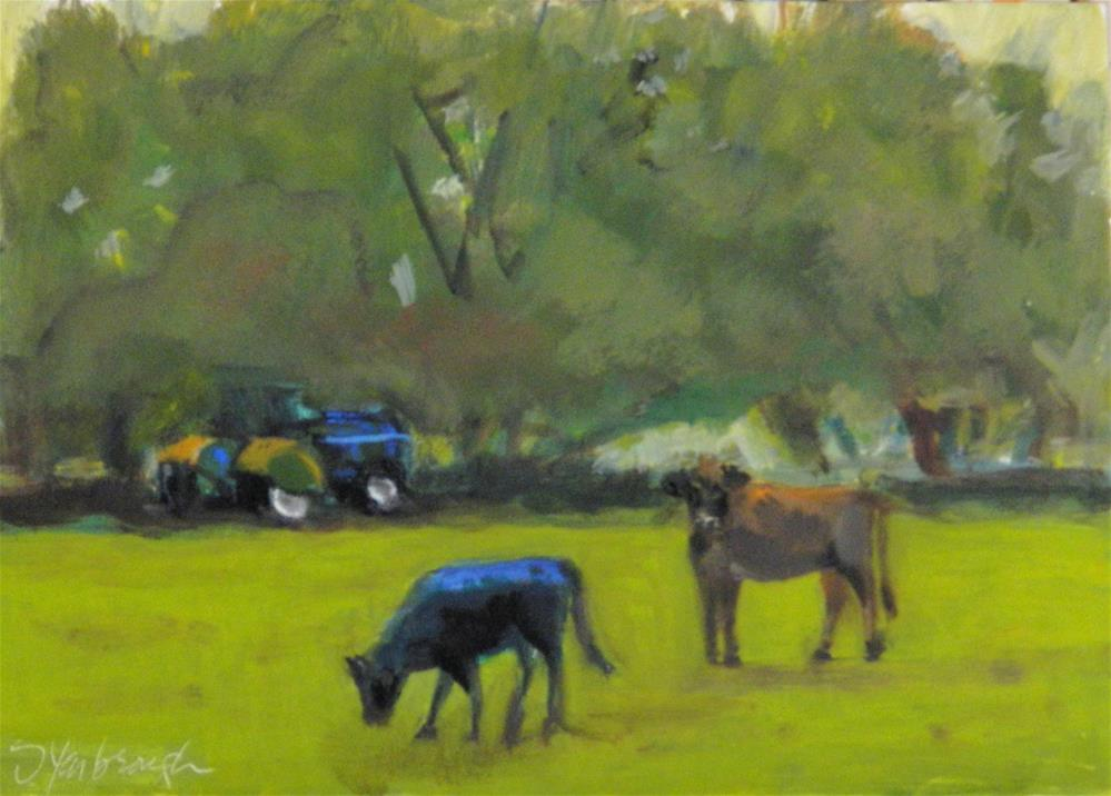 """""""Till the Cows Come Home"""" original fine art by Sharon Yarbrough"""