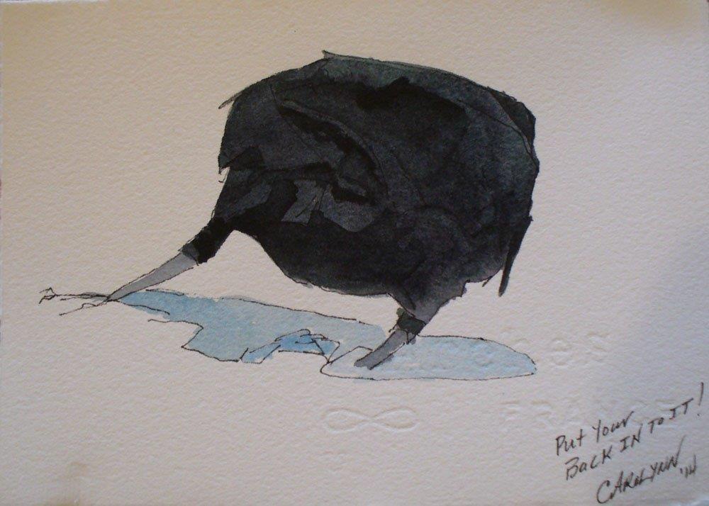 """""""Study - Crow"""" original fine art by Carolynn Doan"""