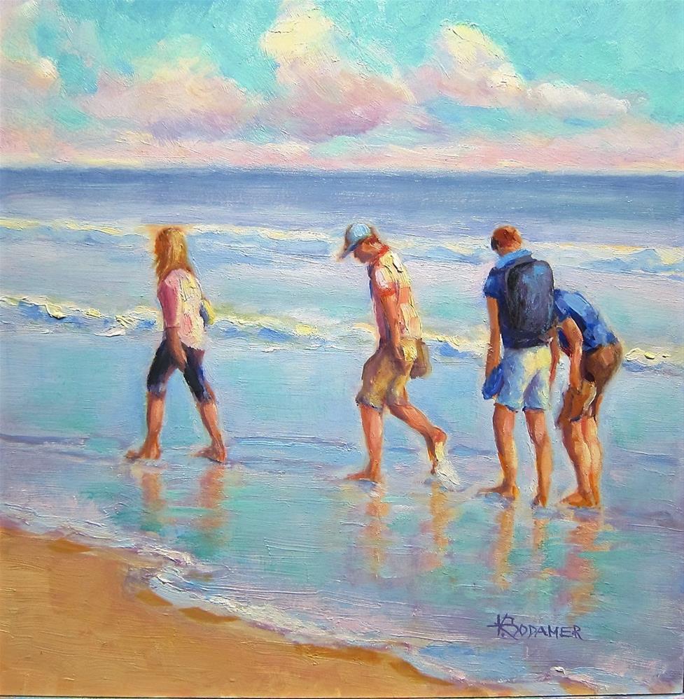 """Beachcombers"" original fine art by Kathy Bodamer"
