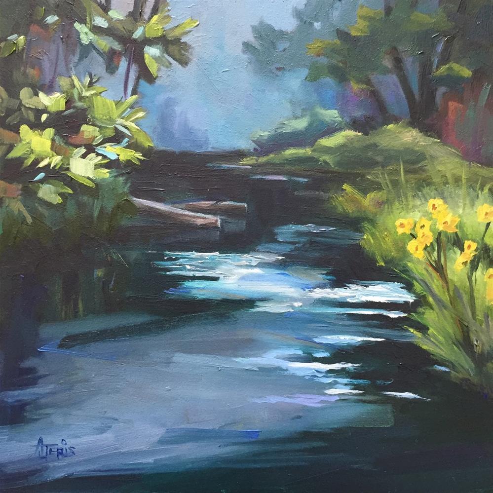 """Shady Creek"" original fine art by Andrea Jeris"