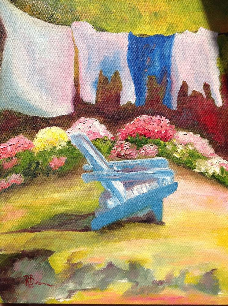 """""""Wash Day"""" original fine art by Rose Brenner"""