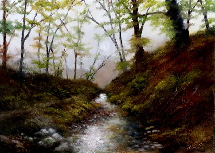 """River Ravine"" original fine art by Bob Kimball"