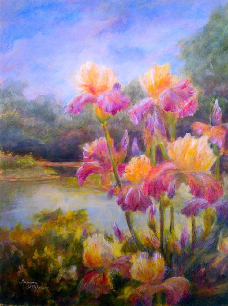 """Dreaming of Iris"" original fine art by Tammie Dickerson"
