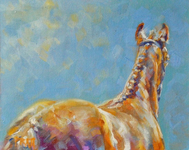 """Braided up in Orange"" original fine art by Jennifer Pratt"