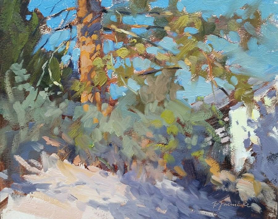 """Ponderosa Pine All Dressed for Dinner"" original fine art by Barbara Jaenicke"