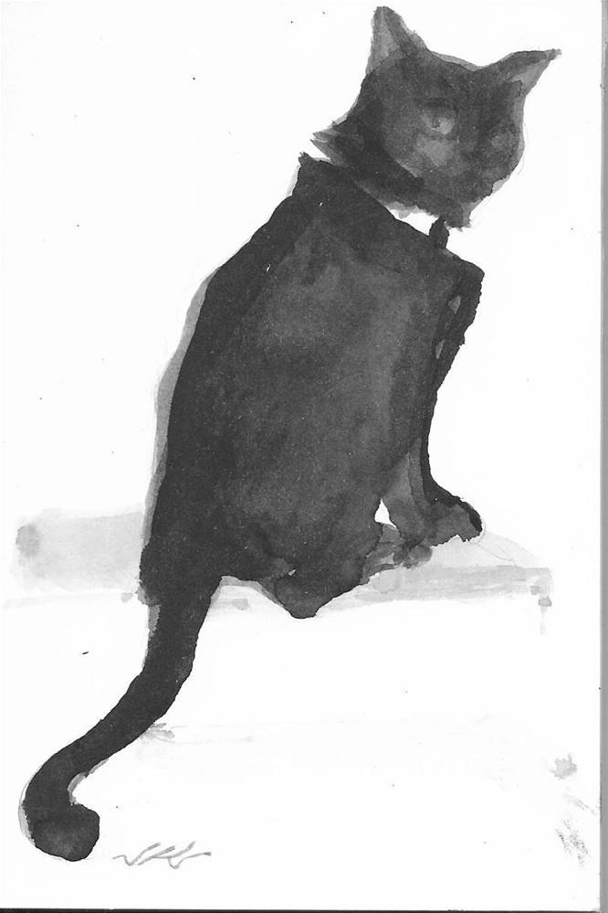 """CatBird Seat"" original fine art by Jean Krueger"