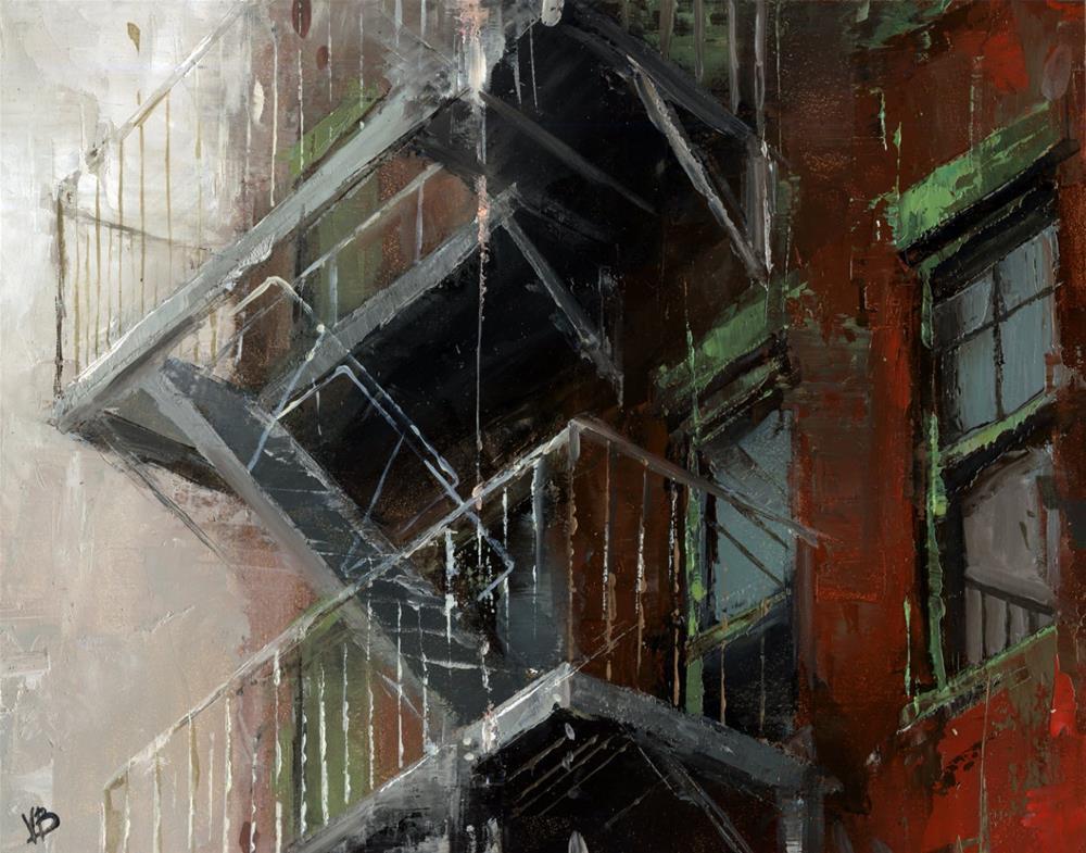 """Fire Escape NYC- No.4"" original fine art by Victor Bauer"