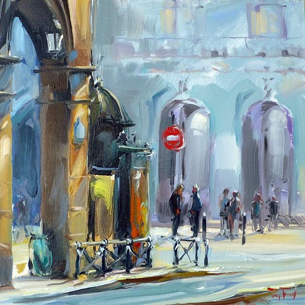 """Louvre am Sonntag"" original fine art by Jurij Frey"
