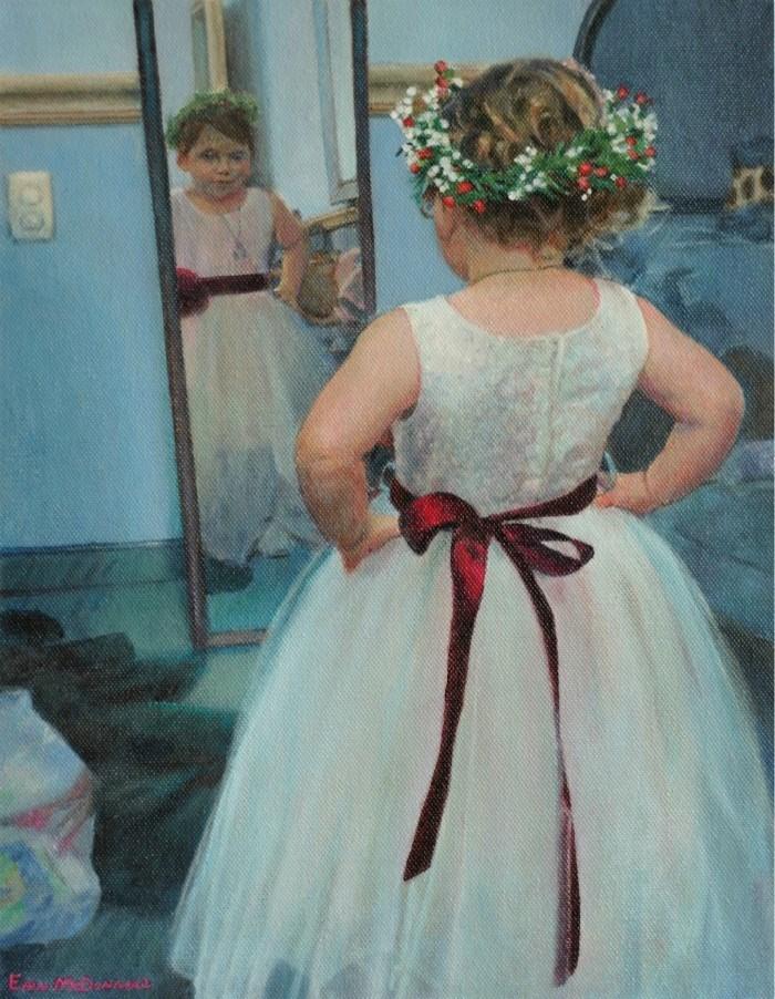 """Flower Girl"" original fine art by Erin McDonnell"