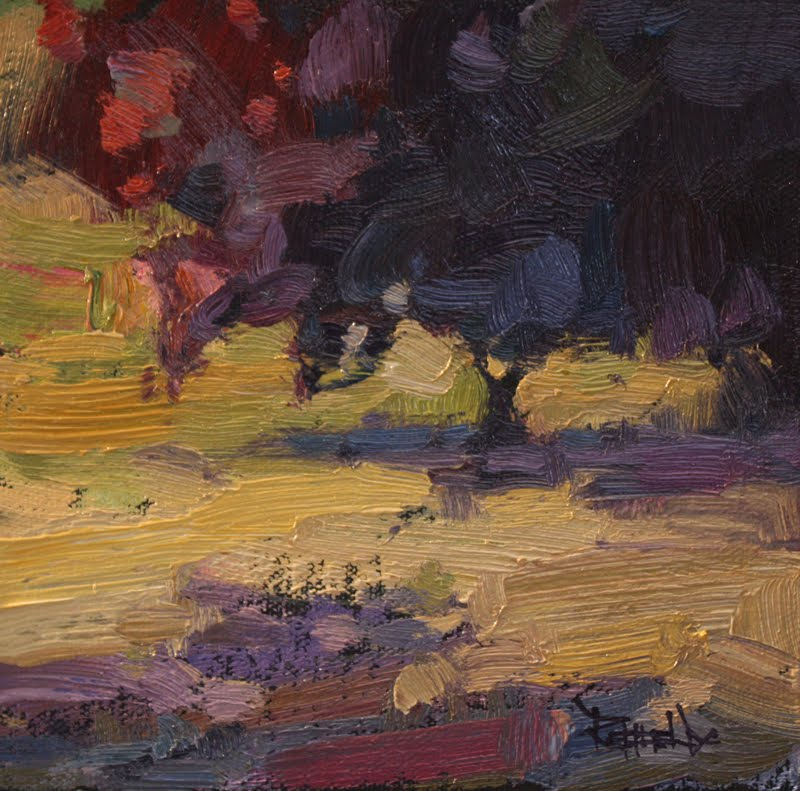 """Flowering Plum Tree - sold"" original fine art by Cathleen Rehfeld"