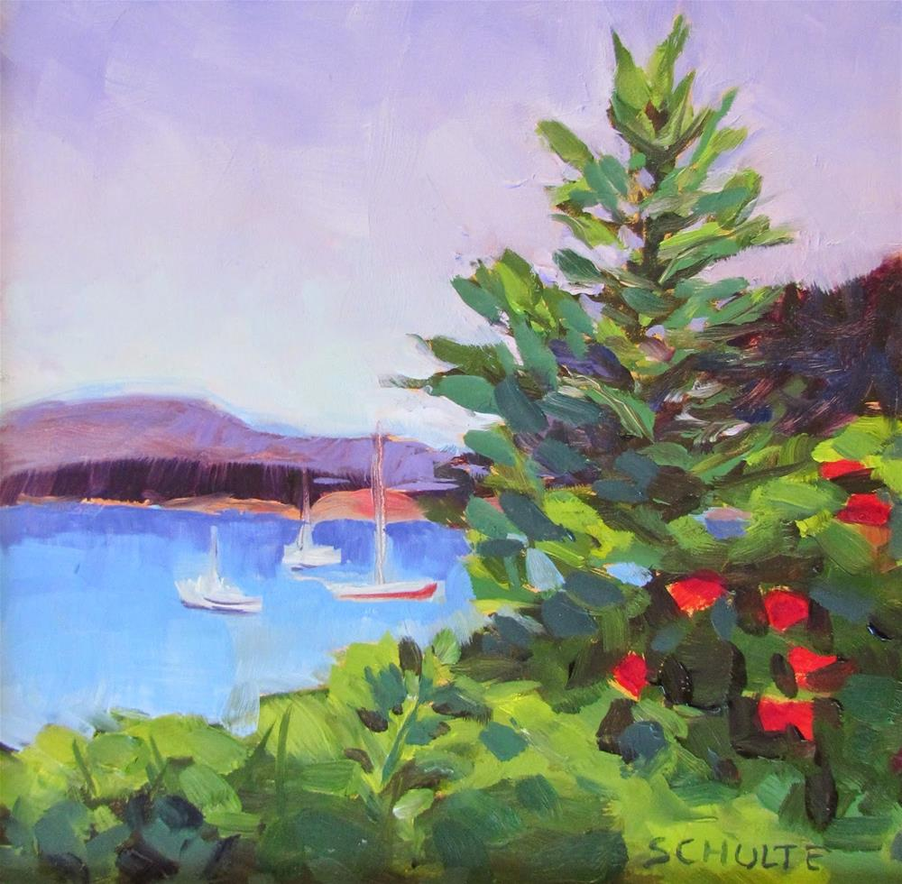 """""""Harbor with Roses"""" original fine art by Lynne Schulte"""