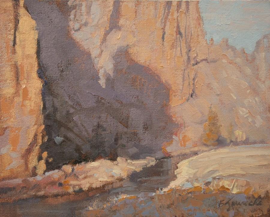 """Smith Rock Shadow"" original fine art by Barbara Jaenicke"