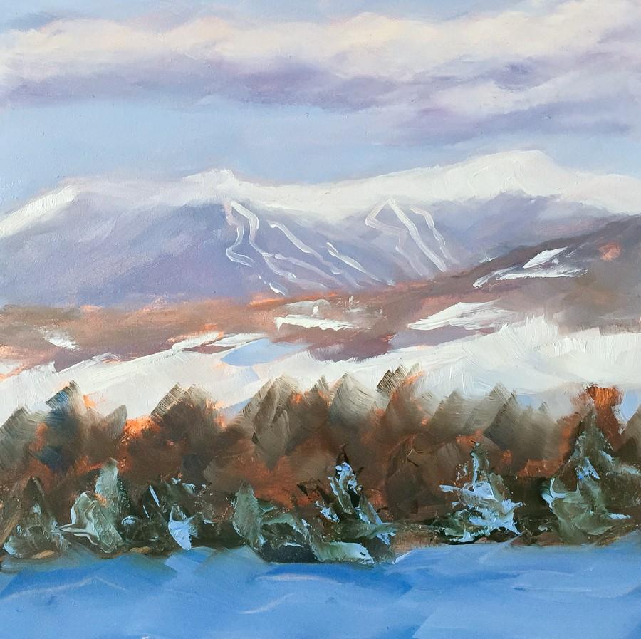 """#118 - Mt Mansfield - Stowe, VT"" original fine art by Sara Gray"