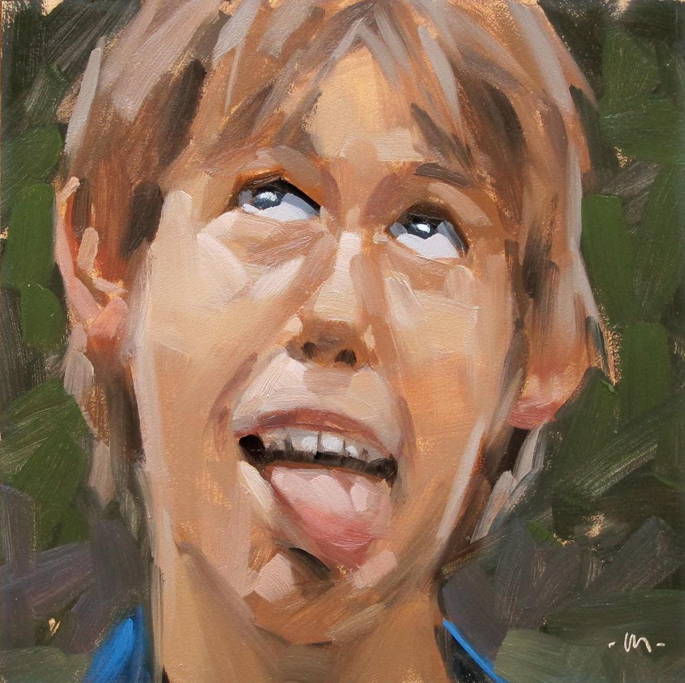 """Goofiness"" original fine art by Carol Marine"
