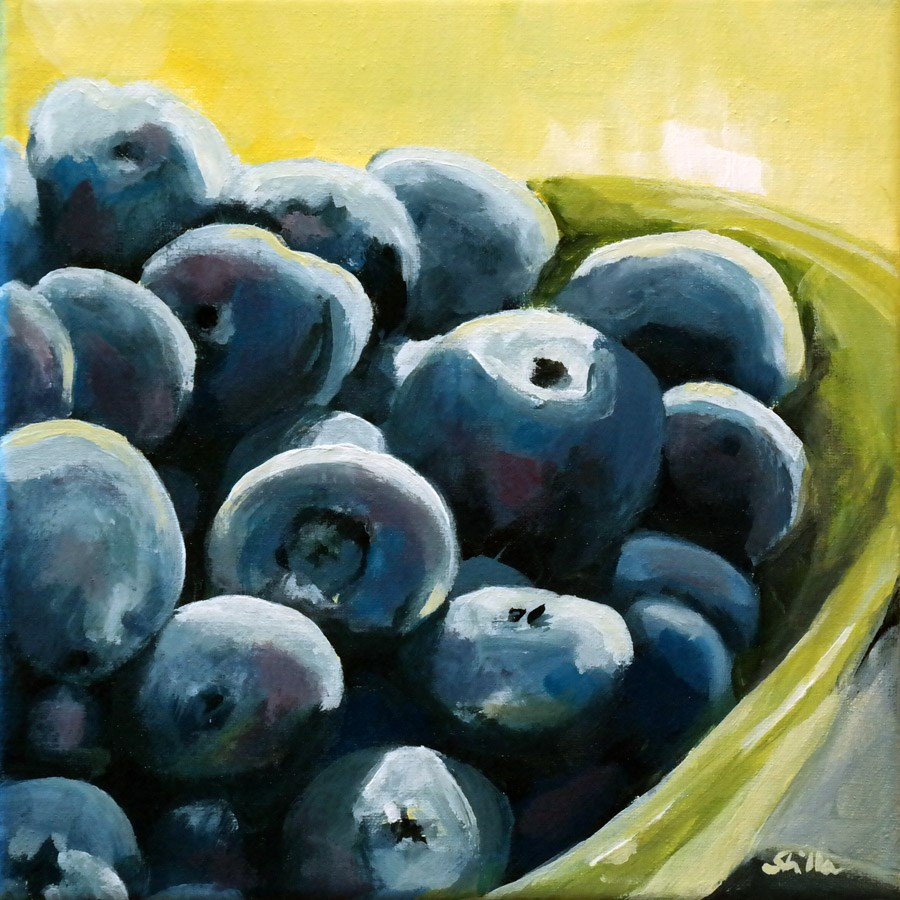 """1483 Blueberries"" original fine art by Dietmar Stiller"