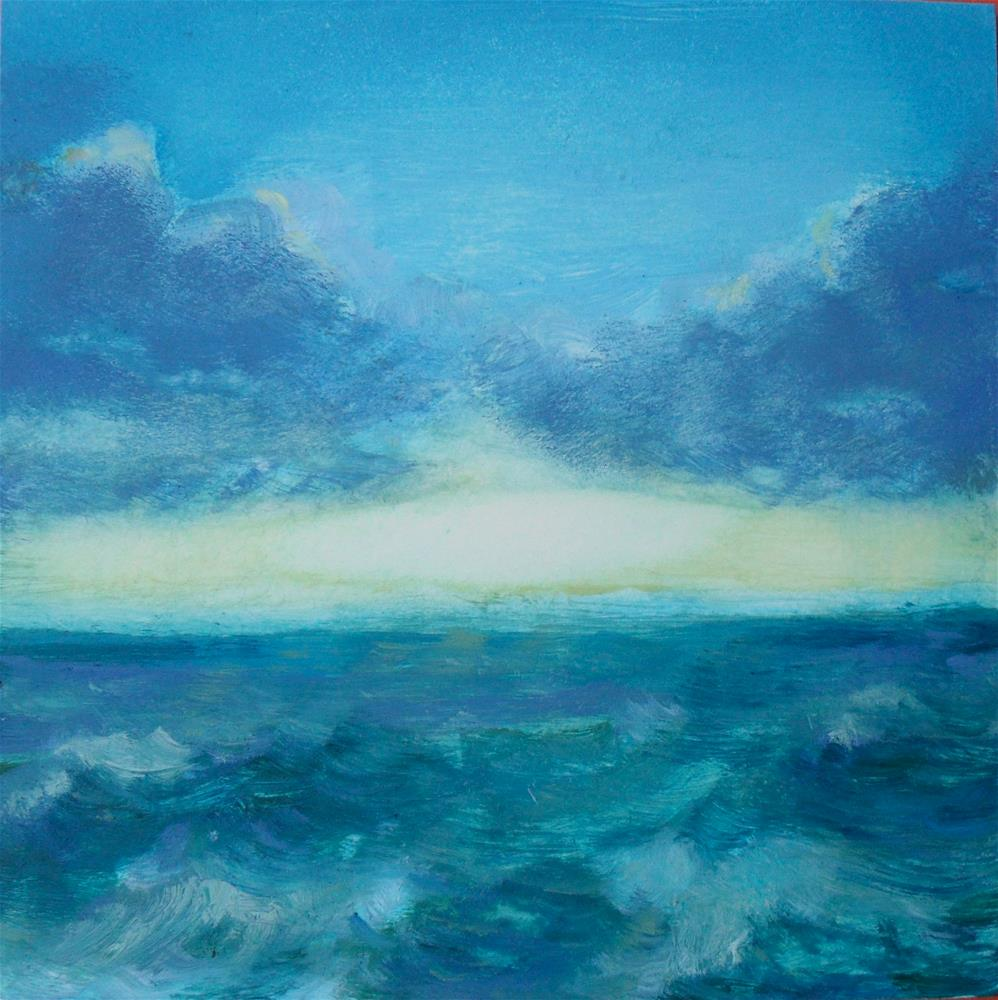 """Creation Day Two"" original fine art by Karen Roncari"