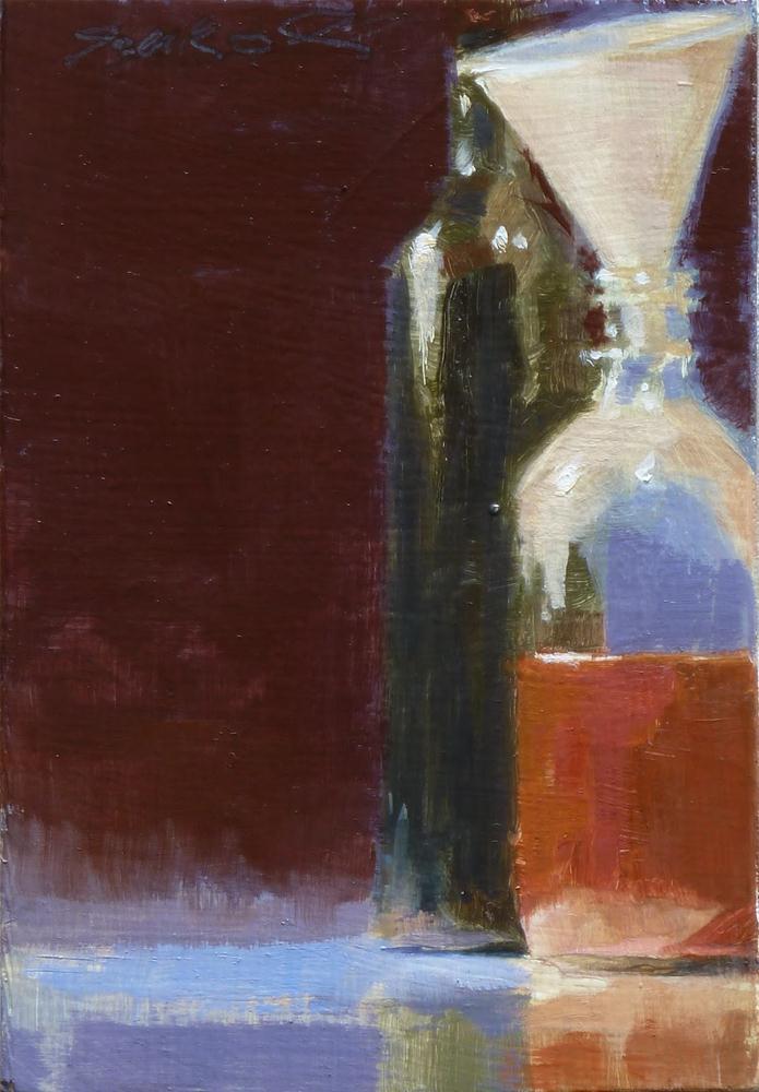 """""""Medium Bottle"""" original fine art by Ron Ferkol"""