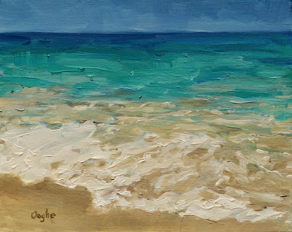 """Shoreline #2"" original fine art by Angela Ooghe"