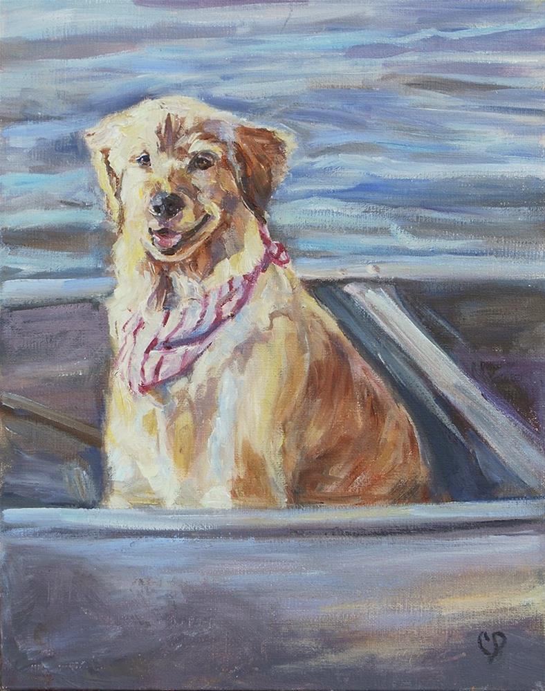 """Gone Fishing"" original fine art by Carol DeMumbrum"