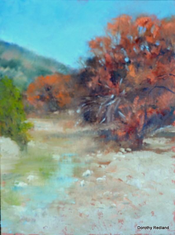 """Just a trinkle"" original fine art by Dorothy Redland"