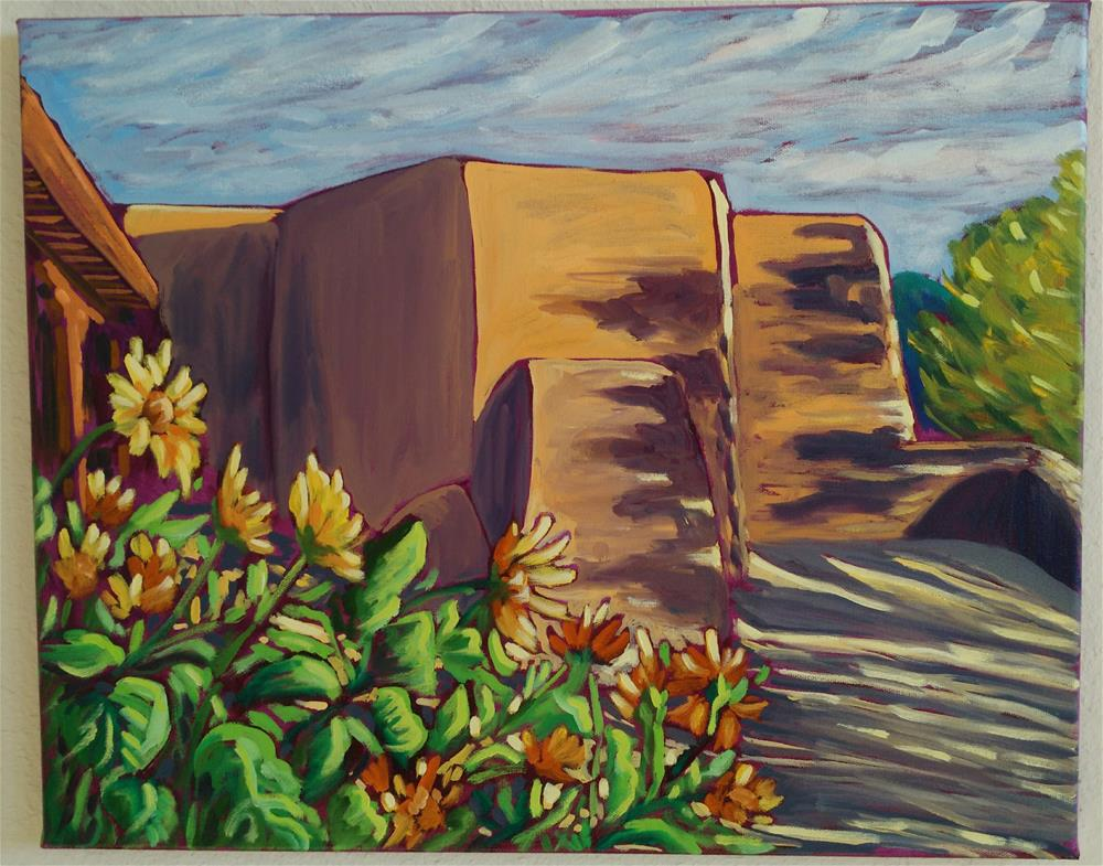 """""""sunflowers at St Francis de Assisi"""" original fine art by Robyn Suzanne"""