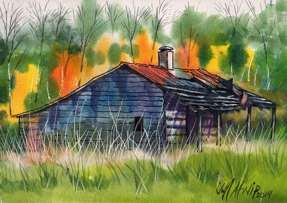 """Left Behind"" original fine art by Jeff Atnip"