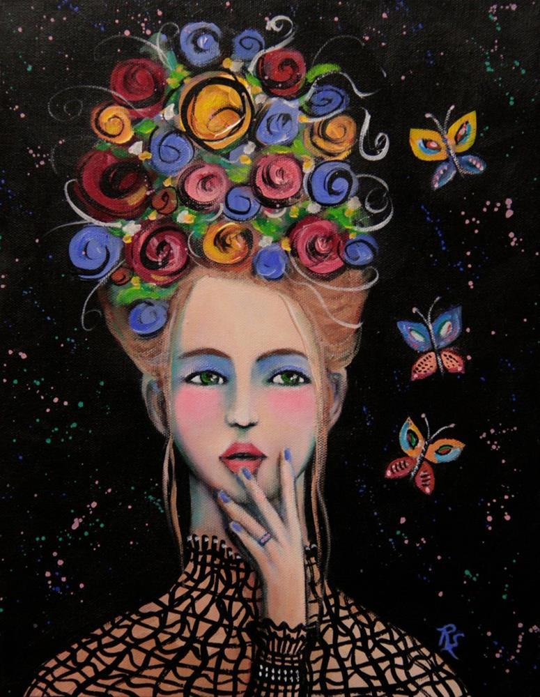 """""""Blossoms and Butterflies"""" original fine art by Roberta Schmidt"""