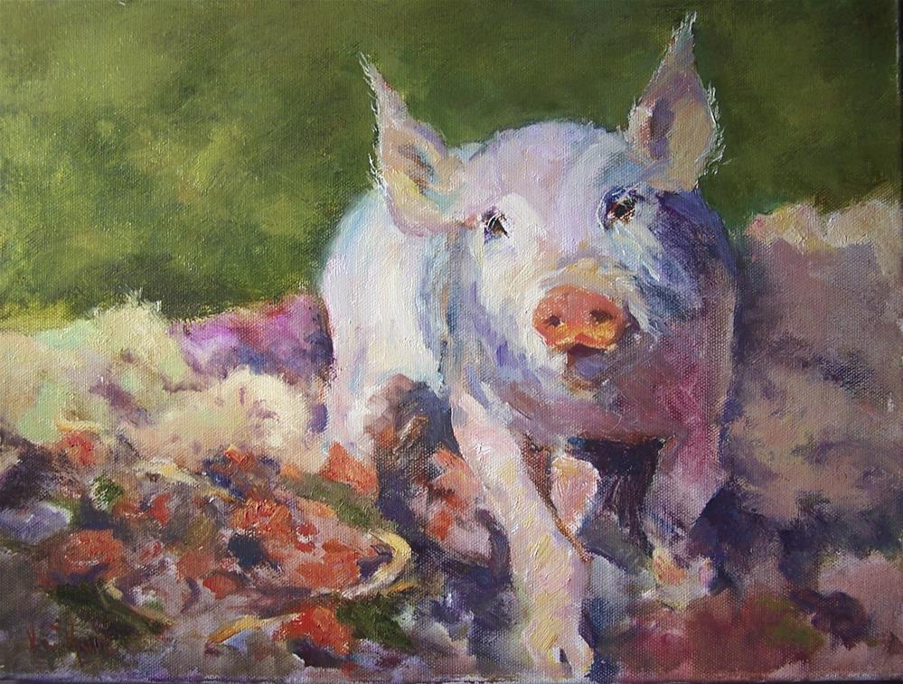 """Portrait of Oink"" original fine art by John Shave"