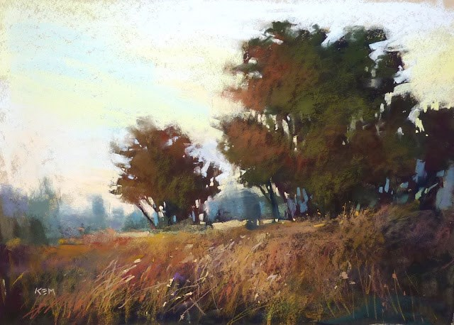 """Choosing Good Colors for Distant Trees"" original fine art by Karen Margulis"